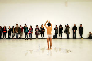 A performance during the final events of Transnational Dialogues 2014 at MAXXI Museum, Rome, Italy, November 2014