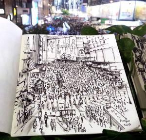 Alvin Wong, member of the Urban Sketchers Hong Kong